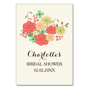 ivory mint coral floral bridal shower bingo cards