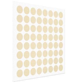 Ivory Neutral Dots Canvas Print