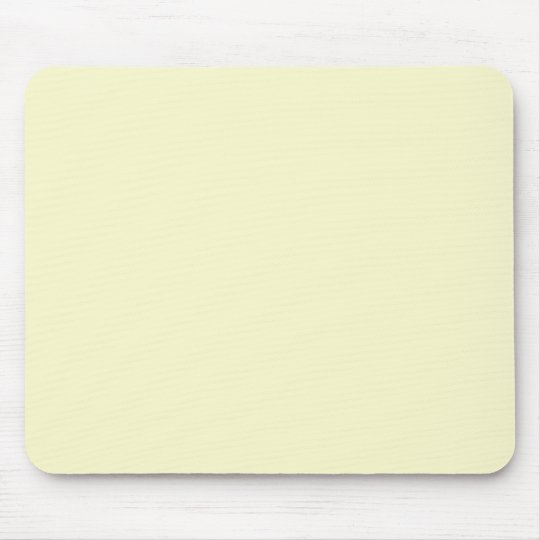 Ivory Off-White Solid Color Background Template Mouse Pad