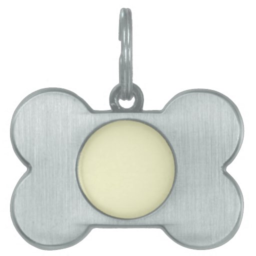 Ivory Off-White Solid Color Background Template Pet Tags