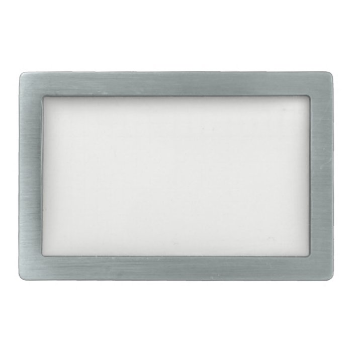 Ivory Off-White Solid Color Background Template Rectangular Belt Buckle
