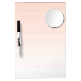 Ivory Ombré Stripes Dry Erase Board With Mirror