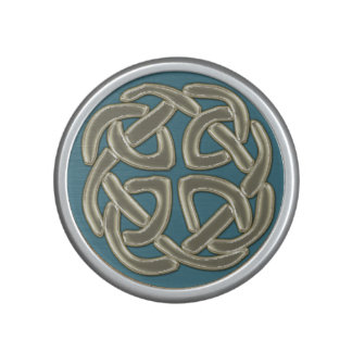Ivory on Blue Celtic Knot Bluetooth Speaker