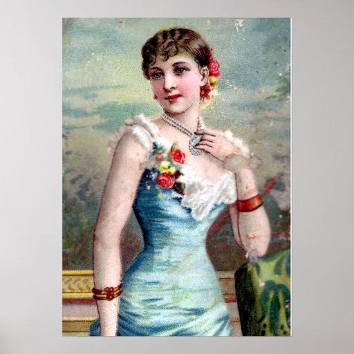 IVORY ON FLOWERS ( mid XIX century) Poster