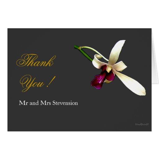 Ivory Orchids Greeting Card
