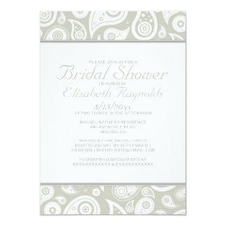 Ivory Paisley Bridal Shower Invitations