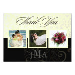 """Ivory + Pearl Damask, Thank you cards, DIY colors! 5"""" X 7"""" Invitation Card"""