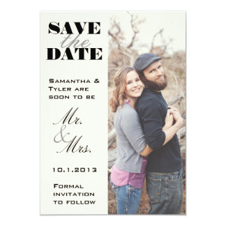 Ivory Photo Save the Date Card