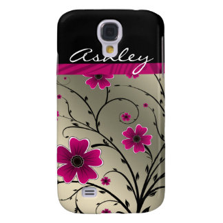 ivory pink floral 3 casing samsung galaxy s4 cover