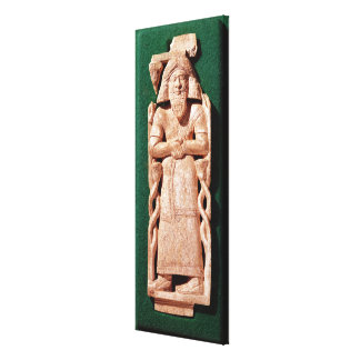 Ivory plaquette of a god gallery wrap canvas