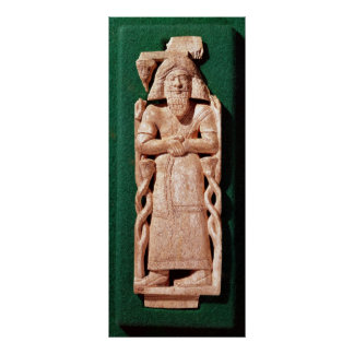 Ivory plaquette of a god print