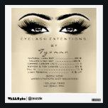 "Ivory Price List Eyes Makeup Lashes Extension Wall Decal<br><div class=""desc"">florenceK design</div>"