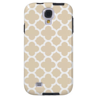 Ivory Quatrefoil Trellis Pattern Galaxy S4 Case