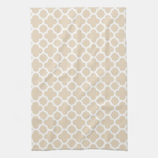 Ivory Quatrefoil Trellis Pattern Kitchen Towels