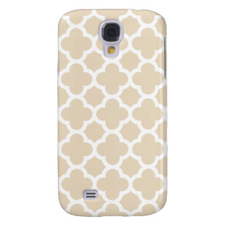 Ivory Quatrefoil Trellis Pattern Samsung S4 Case