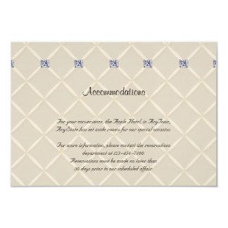 Ivory Quilted Bling Diamonds Posh Wedding Insert Custom Invitation