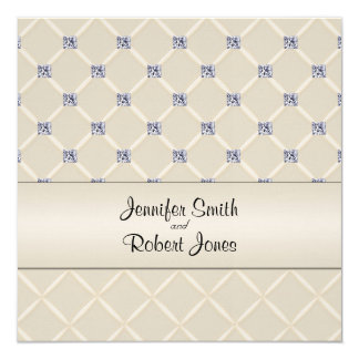 Ivory Quilted Bling Posh Wedding Invitation