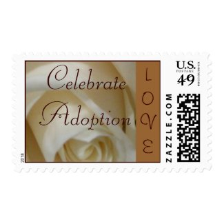 Ivory Rose Adoption LOVE Postage Stamp