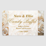 Ivory Rose Candy Buffet Sticker