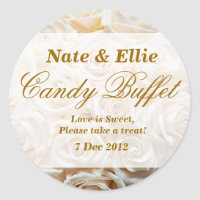 Ivory Rose Candy Buffet Sticker