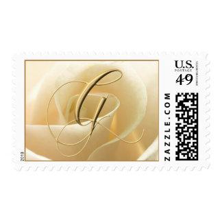 Ivory Rose Monogram stamps - letter G