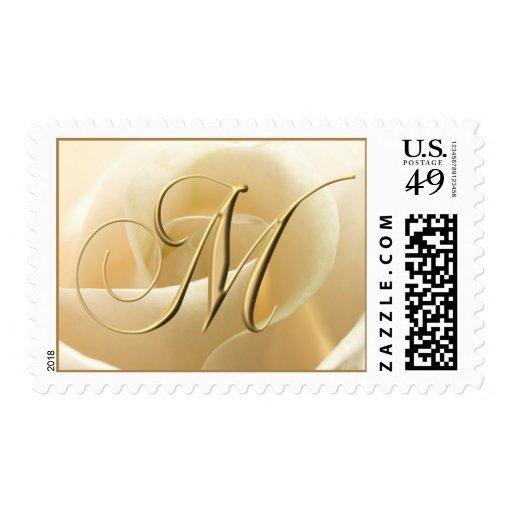 Ivory Rose Monogram stamps - letter M