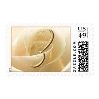 Ivory Rose Monogram stamps - letter Z