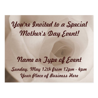 Ivory Rose Mother's Day Event Postcard