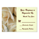 Ivory Rose RSVP Card Personalized Invites