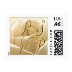 Ivory Rose RSVP postage stamp