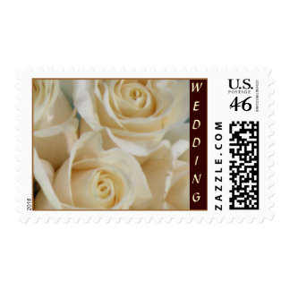 Ivory Rose Wedding Collection Postage Stamp