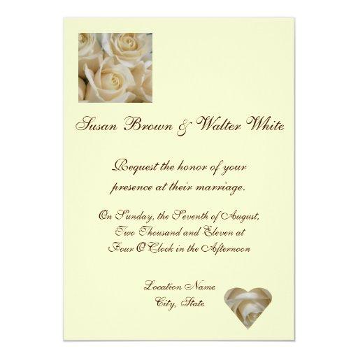 Ivory Rose Wedding Invitation