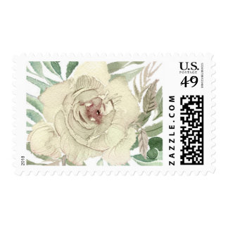Ivory Rose Wedding Stamp