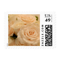 Ivory Roses Wedding Flowers Stamp