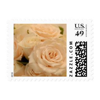 Ivory Roses Wedding Flowers Stamp