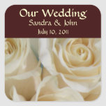 Ivory Roses Wedding Stickers