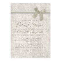 Ivory Rustic Burlap Bridal Shower Invitations Personalized Announcement