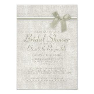 "Ivory Rustic Burlap Bridal Shower Invitations 5"" X 7"" Invitation Card"