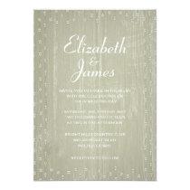 Ivory Rustic Country Barn Wood Wedding Invitations Custom Invites