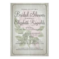 "Ivory Rustic Floral Bridal Shower Invitations 5"" X 7"" Invitation Card"