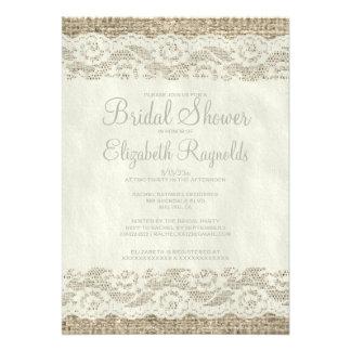 Ivory Rustic Lace Bridal Shower Invitations Invitation