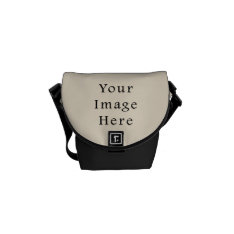 Ivory Sand Tan Color Trend Blank Template Courier Bag at Zazzle