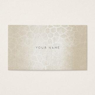 Ivory Silver Pearl Gray Zebra Skin Vip Business Card