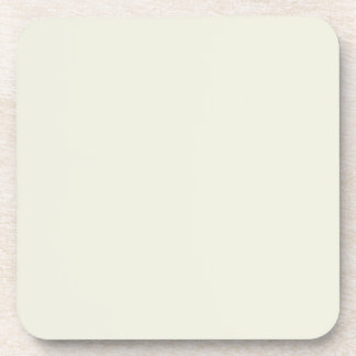 Ivory Solid Color Customize It Drink Coaster
