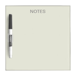 Ivory Solid Color Customize It Dry-Erase Board