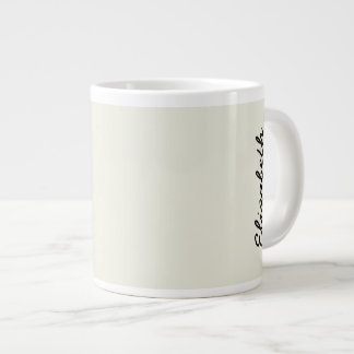 Ivory Solid Color Customize It Giant Coffee Mug