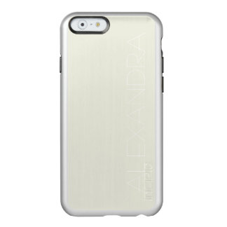Ivory Solid Color Customize It Incipio Feather Shine iPhone 6 Case