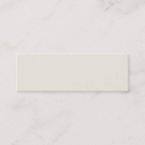 Ivory Solid Color Customize It Mini Business Card