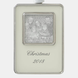Ivory Solid Color Customize It Ornament
