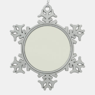 Ivory Solid Color Customize It Snowflake Pewter Christmas Ornament